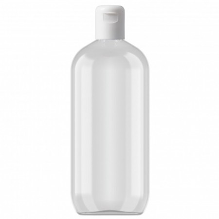 Klar PET flaske 500ml m/kapsel